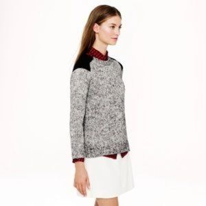 J. Crew Sweaters - J.Crew. Marled colorblock-shoulder sweater Mohair